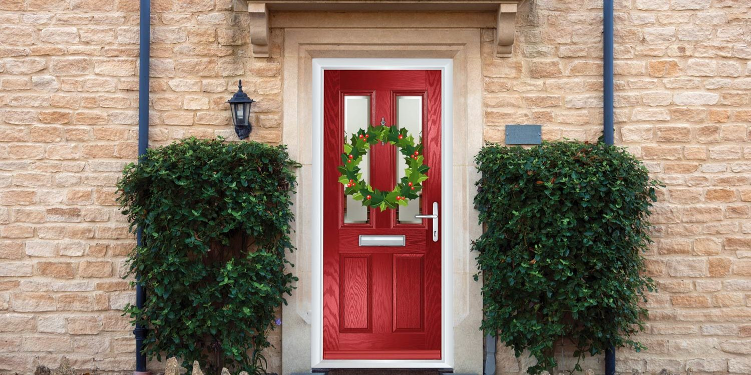 How to Hang a Christmas Wreath Without Damaging Your Composite Door