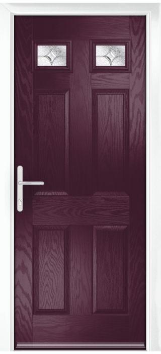 Composite Door - Alnwick - Classic Collection - Very Berry