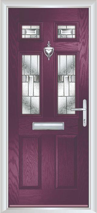 Composite Door - Arundel - Classic Collection - Very Berry