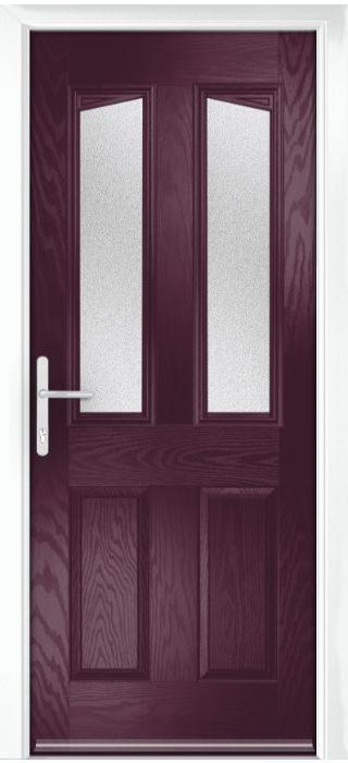 Composite Door - Aydon - Classic Collection - Very Berry