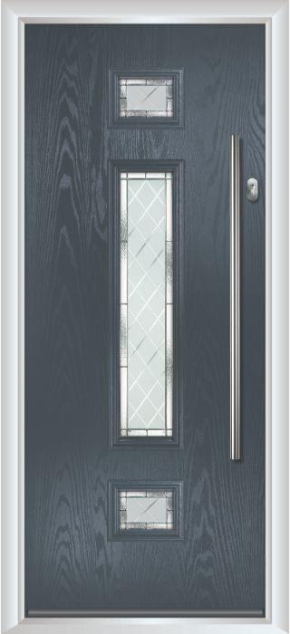 Composite Door - Baird - Contemporary Collection - Anthracite Grey