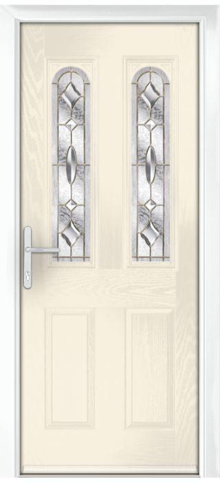 Composite Door - Bamburgh - Classic Collection - Cream White