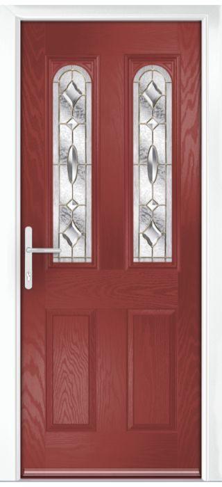 Composite Door - Bamburgh - Classic Collection - Marsala