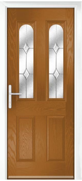 Composite Door - Bamburgh - Classic Collection - Golden Oak