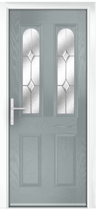 Composite Door - Bamburgh - Classic Collection - Silver Grey