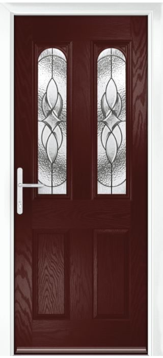 Composite Door - Bamburgh - Classic Collection - Rosewood