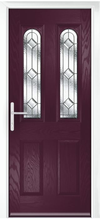 Composite Door - Bamburgh - Classic Collection - Very Berry