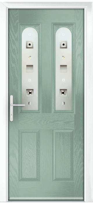 Composite Door - Bamburgh - Classic Collection - Chartwell Green
