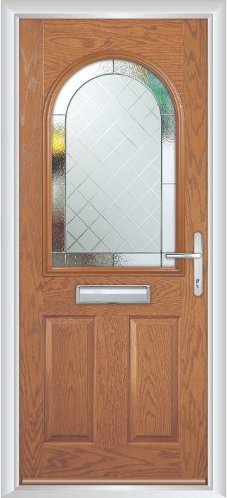 Composite Door - Barnard - Classic Collection - Golden Oak