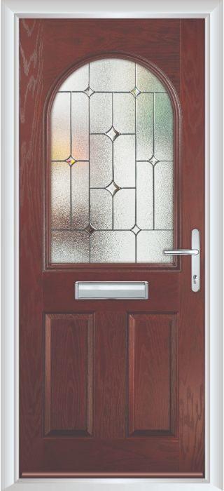 Composite Door - Barnard - Classic Collection - Rosewood