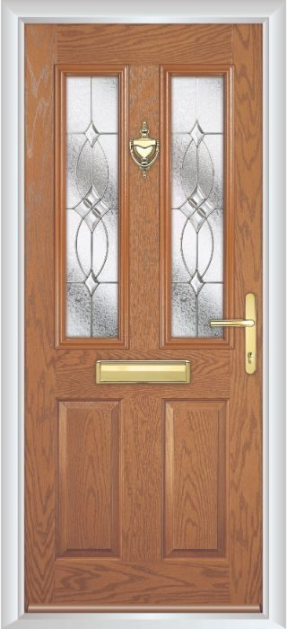 Composite Door - Bede - Golden Oak