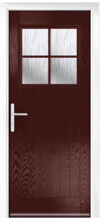 Composite Door - Birch - Rural Collection - Rosewood
