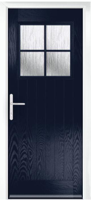Composite Door - Birch - Rural Collection - Blue