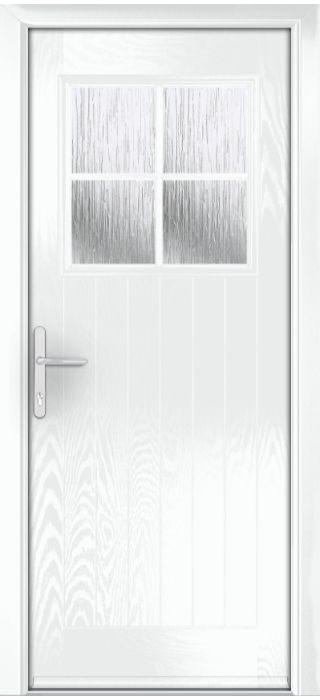 Composite Door - Birch - Rural Collection - White