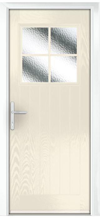 Composite Door - Birch - Rural Collection - Cream White