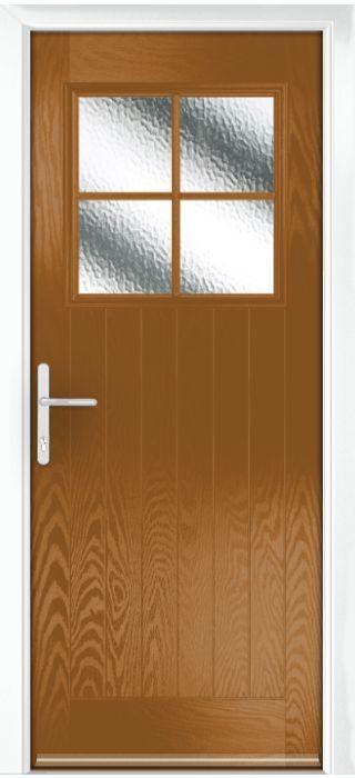 Composite Door - Birch - Rural Collection - Golden Oak