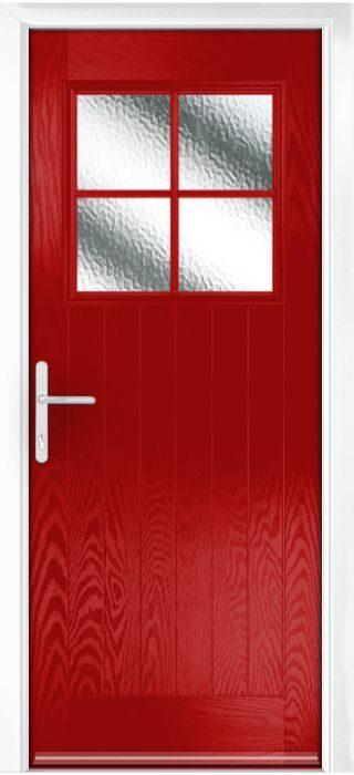 Composite Door - Birch - Rural Collection - Red