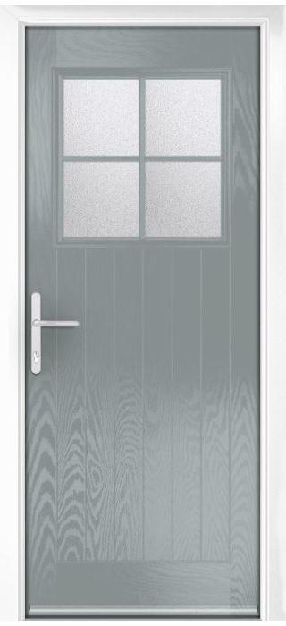 Composite Door - Birch - Rural Collection - Silver Grey