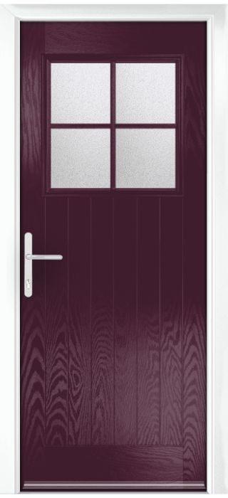 Composite Door - Birch - Rural Collection - Very Berry