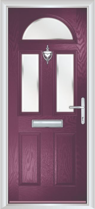 Composite Door - Chillingham - Classic Collection - Very Berry