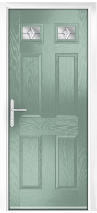 Composite Door - Alnwick - Classic Collection - Chartwell Green