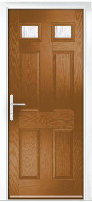 Composite Door - Alnwick - Classic Collection - Golden Oak
