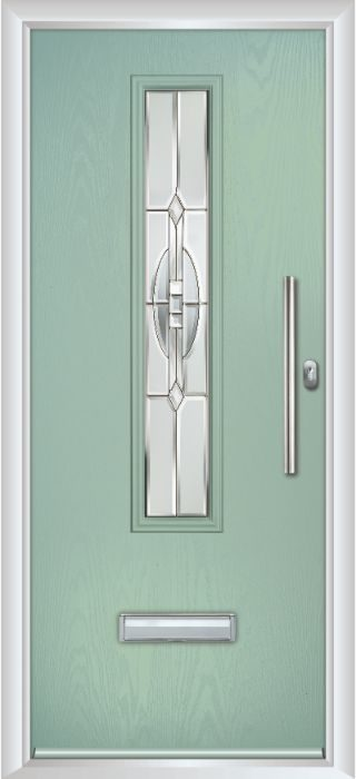 Composite Door - Cullen - Contemporary Collection - Chartwell Green