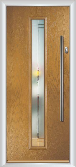 Composite Door - Davy - Contemporary Collection - Irish Oak