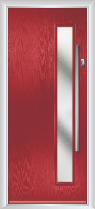Composite Door - Davy - Contemporary Collection - Red