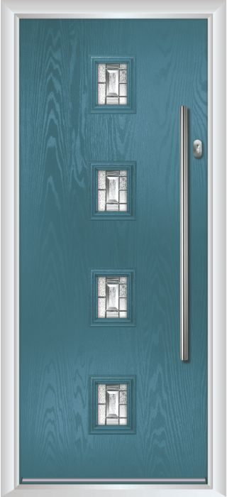 Composite Door - Edison - Contemporary Collection - Victory Blue