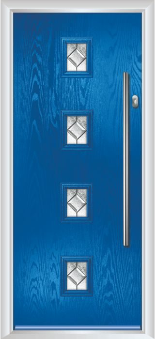 Composite Door - Edison - Contemporary Collection - French Blue