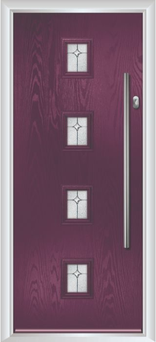 Composite Door - Edison - Contemporary Collection - Very Berry