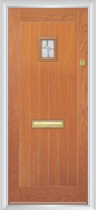Composite Door - Elm - Rural Collection - Golden Oak