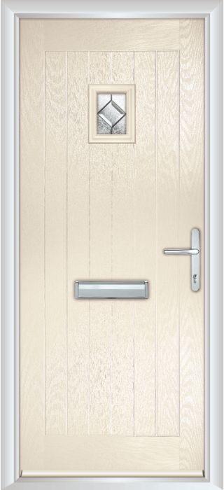 Composite Door - Elm - Rural Collection - Cream White