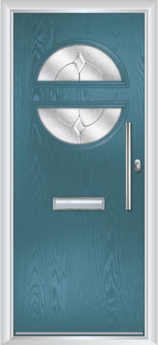 Composite Door - Franklin - Contemporary Collection - Victory Blue