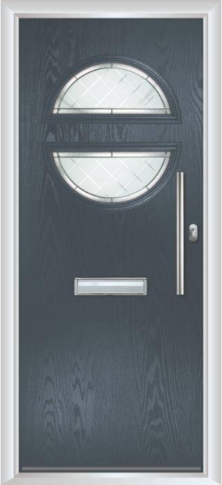 Composite Door - Franklin - Contemporary Collection - Anthracite Grey