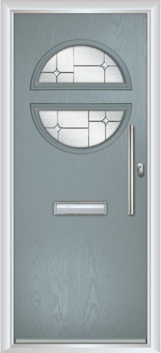 Composite Door - Franklin - Contemporary Collection - Silver Grey