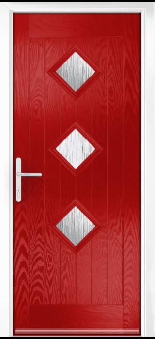Composite Door - Hornbeam 3 - Rural Collection - Red