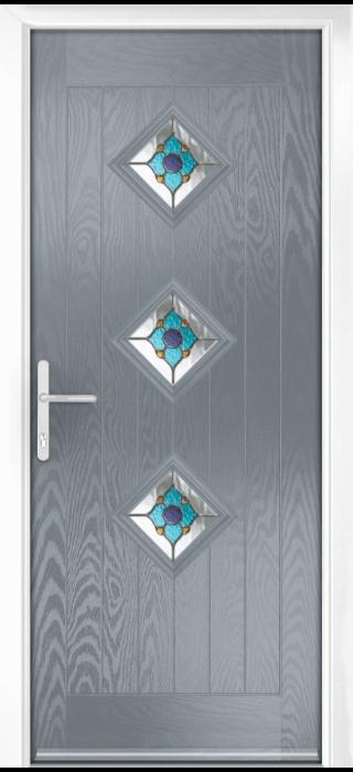 Composite Door - Hornbeam 3 - Rural Collection - Shadow Grey
