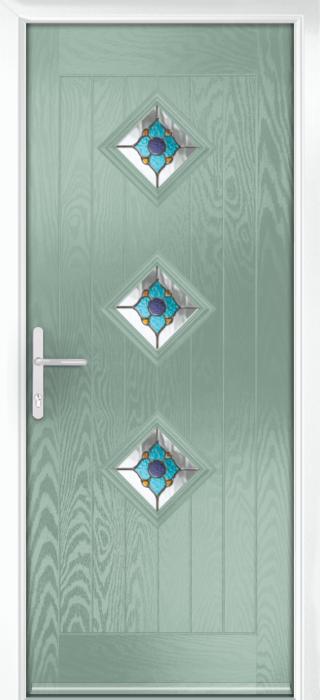 Composite Door - Hornbeam 3 - Rural Collection - Chartwell Green