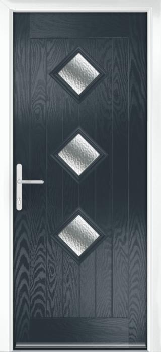 Composite Door - Hornbeam 3 - Rural Collection - Anthracite Grey