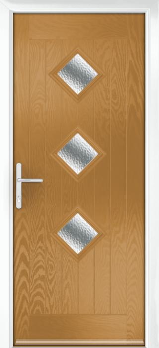 Composite Door - Hornbeam 3 - Rural Collection - Irish Oak