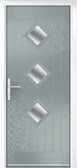Composite Door - Hornbeam 3 - Rural Collection - Silver Grey