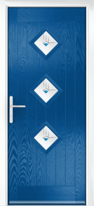Composite Door - Hornbeam 3 - Rural Collection - French Blue