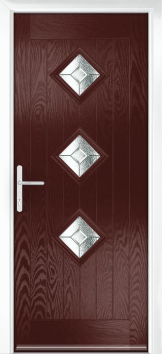 Composite Door - Hornbeam 3 - Rural Collection - Rosewood