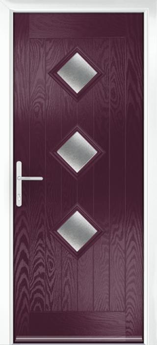 Composite Door - Hornbeam 3 - Rural Collection - Very Berry