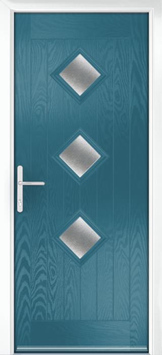 Composite Door - Hornbeam 3 - Rural Collection - Victory Blue