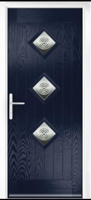 Composite Door - Hornbeam 3 - Rural Collection - Blue