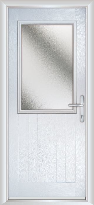 Composite Door - Larch - Rural Collection - White
