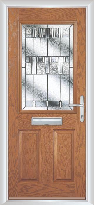 Composite Door - Lindisfarne - Classic Collection - Golden Oak